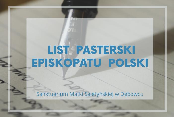 LIST PASTERSKI EPISKOPATU POLSKI