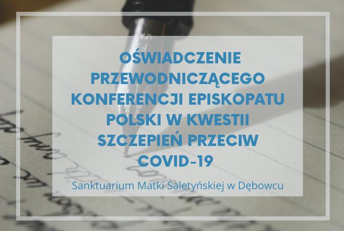 Oświadczenie Przewodniczącego Konferencji Episkopatu Polski wkwestii szczepień przeciw COVID-19